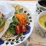 本日のコーデと大好きな北欧食器で手抜きご飯も豪華?!(; ・`д・´)