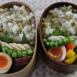 自家製鶏ハムと豆ごはん弁当と45Rの冷えとりコーデ。