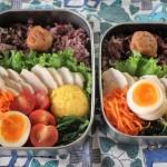 鶏ハム弁当とカッチリベストコーデ。2015.10.30。