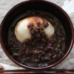 ぜんざい・関西風雑煮とキーンジャスパー冷えとりコーデ。