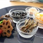 小松菜のごま雑煮とノースフェイスのピケパンツコーデ。