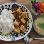 アラビア イエパラで麻婆豆腐ライスとノースフェイス ピケパンツで冷えとりコーデ。