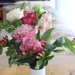 花のある暮らしとsi-si-siワンピ冷えとりコーデ。