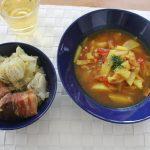 イッタラ ブルー祭り昼食とサロペット冷えとりコーデ。