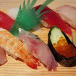 お寿司ランチとn100ボーダーTシャツ冷えとりコーデ。