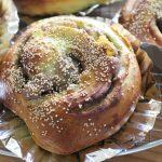 豚の生姜焼きランチと抹茶くりあんぱんと冷えとりコーデ。