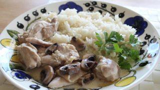 鶏のクリーム煮ランチとオルテガ冷えとりファッション。