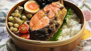 鮭弁当とお気に入りアナトミカシャツ冷えとりファッション。