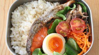 鮭弁当とロッキーマウンテンインナーベスト冷えとりファッション。