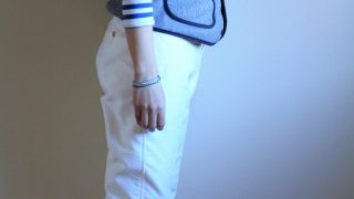 豆腐入りハンバーグ弁当と白パンツ冷えとりファッション。