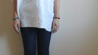 TOWAVASEのリネンチュニック冷えとりファッション。